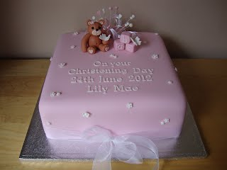 Christening Teddy and Blocks