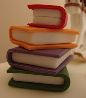 stack of books topper